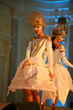 Stage performance of upscale restaurant the summer palace dancers dance show of the ensemble group style. Stock Photo