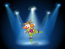 A stage with a playful clown Royalty Free Stock Photos