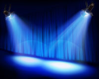 Stage before the premiere. Vector illustration. Royalty Free Stock Photo