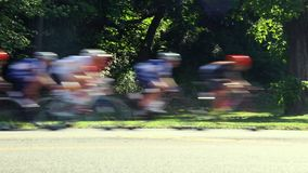 Stage race cyclists stock video