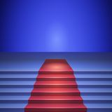 Stage with red carpet, stage for performances Stock Image