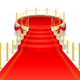 Stage with Red Carpet Stock Photos