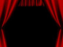 Stage red curtain Royalty Free Stock Image