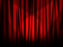 Stage red curtain Royalty Free Stock Photo