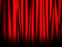 Stage red curtain Royalty Free Stock Photos