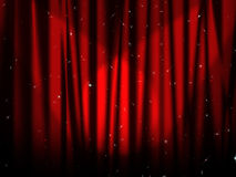 Stage red curtain Royalty Free Stock Photography
