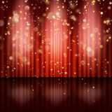 Stage with red curtain. EPS 10 vector. Stage with red curtain. And also includes EPS 10 vector Stock Images