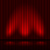 Stage with red curtain Royalty Free Stock Images