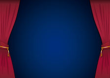 Stage with red curtains Royalty Free Stock Images
