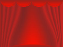 Stage with red curtains Royalty Free Stock Image