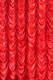 Stage red curtains Royalty Free Stock Image