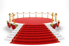 Stage with Rep Carpet Stock Image