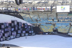 Stage for Rio2016 Olympics opening ceremonies Stock Photos