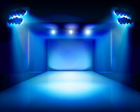 Stage with runway. Vector illustration. Royalty Free Stock Photo