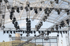 Stage's scaffold Stock Photo
