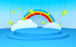 Stage scenery in child style Stock Photography