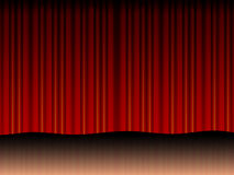 Stage screen. Stage red screen generated by illustration royalty free illustration