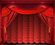 Stage screen Royalty Free Stock Images
