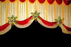 Stage screen decoration and flowers Stock Images