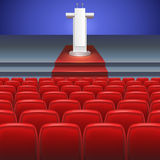 Stage with, seats Royalty Free Stock Image