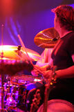 Stage shot of drummer. Drummer in action Stock Images