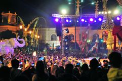 Stage show at the end of Yogyakarta city festival Stock Photography