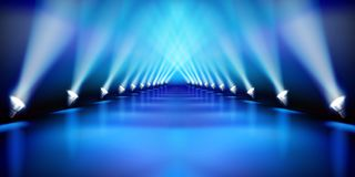 Stage before the show. Fashion runway. Vector illustration. Royalty Free Stock Photo