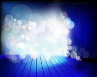 Stage before the show. Vector illustration. Stock Image