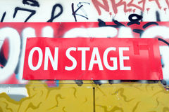 On stage sign Royalty Free Stock Image
