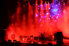 Stage in smoke Royalty Free Stock Images