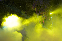 Stage smoke and light. Stage with light and smoke royalty free stock image