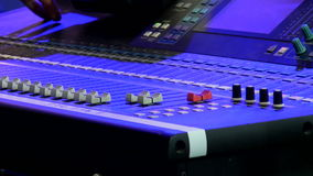 Stage sound control stock video