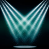 Stage sparkling spotlight blue Royalty Free Stock Photos