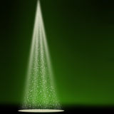 Stage sparkling spotlight green Royalty Free Stock Image