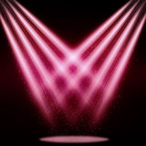 Stage sparkling spotlight pink Stock Photo
