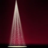 Stage sparkling spotlight red Stock Images