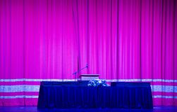 Stage with speakers pulpit Royalty Free Stock Images