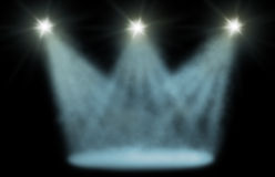 Stage spot light Stock Photography