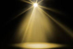 Stage spot light Royalty Free Stock Images