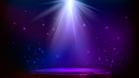 Stage spot lighting. Vector illustration Stock Images