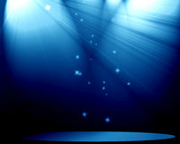 Stage with spotlight Stock Photo