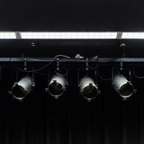 Stage spotlight. In a stage Royalty Free Stock Photo
