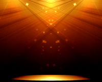 Stage with spotlight Stock Photography
