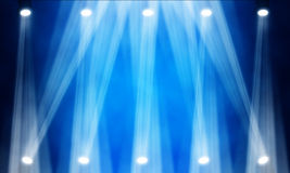 Stage spotlight. Illustration of bright stage spotlight Royalty Free Stock Image