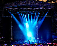 Stage Spotlight. With Laser rays Stock Photography