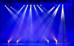 Stage Spotlight with Laser rays in the concert Stock Photos