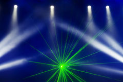 Stage Spotlight with Laser rays in the concert Stock Image