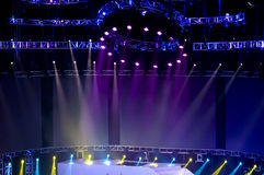 Stage Spotlight with Laser rays in the concert Royalty Free Stock Images