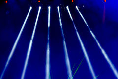 Stage Spotlight with Laser rays in the concert Royalty Free Stock Photography