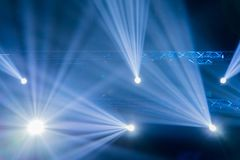 Stage Spotlight with Laser rays, light show at Concert Stock Image